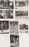Lot De 8  Photos Originales Militaire à Situé - Guerra, Militares