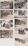 Lot De 9  Photos Originales Militaire à Situé - Guerra, Militares