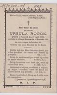 URSULA ROGGE     NAZARETH  1814    ST DENIJS WESTREM  1892   1929 - Overlijden