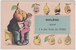 CAP - DIPLOME DECERNE A LA PLUS GROSSE DES POIRES -  ILLUSTRATEUR: XAVIER SAGER - - Humour