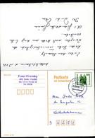 DDR P108 Antwort-Postkarte Gelaufen Halle-Weil Der Stadt 1990  Kat. 12,00 € - Postales - Usados