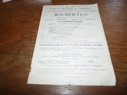 Programme Fêtes Du Millénaire De Gembloux 922-1922 Opéra Wicbertus L Namèche V Debecker - Programs
