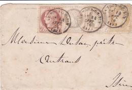N° 51 N° 52 X 2 N° 55 S / Env T.P. Ob T 16 La Tour Du Pin 14 Sept 76 - 1871-1875 Ceres