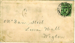 GB 1906 ½d Yellowish-green KEVII SG218 On Journal Cover From CARLISLE To WIGTON - Briefe U. Dokumente
