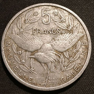NOUVELLE CALEDONIE - 5 FRANCS 1952 - Union Française - KM 4 - Oiseau Cagou - New Caledonia