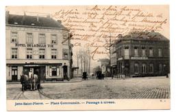 Jette-saint-Pierre: Place Communale - Passage à Niveau (tram à Chevaux) - Jette