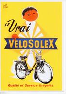 REF 540 : CPM Repro Affiche Ancienne René Ravo Velo Solex Vélosolex - Moto