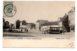 Jette-saint-Pierre: Place Communale (tram à Cheval) - Jette