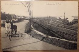 Carte Postale Achicourt La Plaine Vue Du Pont Attelage Train à Vapeur - Andere Gemeenten