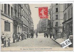 75011 .  Paris : Rue Du Chemin Vert  A La Rue Merlin . - Arrondissement: 11