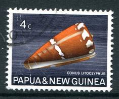 Papua New Guinea 1968-69 Sea Shells - 4c Value Used (SG 139) - Papua Nuova Guinea