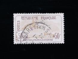 FRANCE 1917/18 - Orphelins De Guerre 50 C + 50c N°153 - Oblitéré 1924, Second Choix (dents Courtes) - Used Stamps