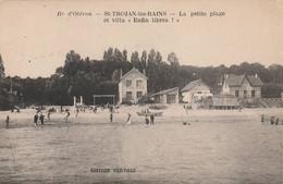 """Saint Trojan Les Bains -la Petite Plage  Et Villa """"enfin Libre""""  - Scan Recto-verso - Ile D'Oléron"""