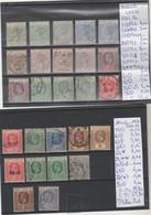 LOT DE TIMBRES DE SAINTE-LUCIE 1883-86-1913-19 Nr VOIR SUR PAPIER AVEC TIMBRES   COTE 63.80 € - St.Lucia (1979-...)