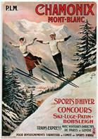 Reproduction D' Affiche Ancienne - Chemins De Fer PARIS, LYON, MEDITERRANEE - CHAMONIX MONT BLANC - Chamonix-Mont-Blanc