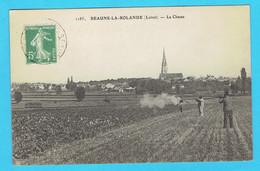 CPA  BEAUNE LA ROLANE - La Chasse - Chasseurs - 45 Loiret - Beaune-la-Rolande