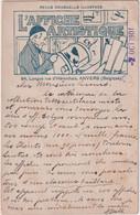 """3 CP  PUB """"L'AFFICHE ARTISTIQUE-revue Mensuelle Illustrée"""" -cachet STE. BELGE DES AFFICHOPHILES à Anvers - Reclame"""