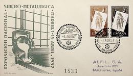 1957 España. Matasello. Exposición Nacional Sidero-Metalurgica - Fabriken Und Industrien