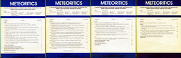 Meteoritics & Planetary Science 1991  (4 Numbers) - Astronomy