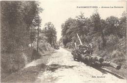 Dépt 77 - FAREMOUTIERS - Avenue La Garenne - (Édit. Gondard) - Transport De Grumes, Thème Du Bois - Faremoutiers