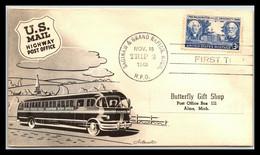 1949 USA US Mail Highway Post Office Saginaw & Grand Rapids TRIP 2 Bus Car Postal - Ohne Zuordnung