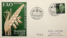 1957 España. Matasello. Reunión Del Comité Ejecutivo De FAO - Sonstige