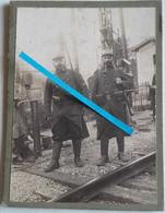 1914 Dunkerque Béthune 6eme RIT Régiment Infanterie Territoriale GCV Garde Voies Chemi1914-1918 Poilu Tranchée WW1 Photo - War, Military