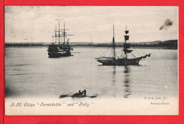 HAMPSHIRE PORTSMOUTH   HM SHIP FORMIDABLE AND POLLY   Pu 1906 - Veleros