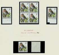 N° 2457 Sizerin Flammé (**)  Gomme Verdâtre P 6  - Bloc De 4 + 2 Timbres + N°Pl 1 Et 2 - 1985-.. Pájaros (Buzin)