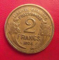 France. 2 Francs 1935. Morlon. Rare - I. 2 Francs