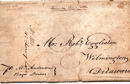 """Cheval, Diligence, """"American Coach Letter"""", 16 Sept 1820, Pour Wilmington (Delaware) - Etats-Unis"""