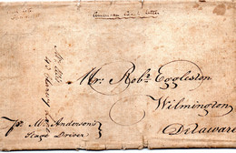 "Cheval, Diligence, ""American Coach Letter"", 16 Sept 1820, Pour Wilmington (Delaware) - Estados Unidos"