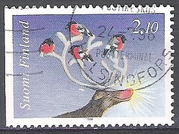 Finland 1994 Michel 1274DL O Cote (2013) 0.45 Euro Noël Cerf Et Bouvreuil Pivoine Cachet Rond - Used Stamps