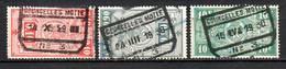 TR 136 + 145 + 162 Gestempeld COURCELLES MOTTE N°3 - 1923-1941