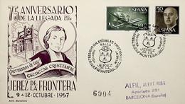 1957 España. Matasello. 75 Aniversário De La Llegada De Los Hermanos De Las Escuelas Cristianas - Christentum