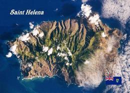 Saint Helena Island Satellite View New Postcard - Saint Helena Island