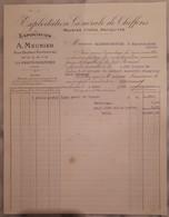72 - Facture - LA FERTE BERNARD - Exploitation De Chiffons, Peaux De Taupes  - A. MEUNIER - 1920 - 1900 – 1949