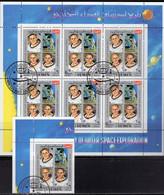 Apollo 11 On Moon Yemen 883+Kleinbogen O 8€ USA-Astronaut Historie 1970 Sheet Ms Space History Exploration Sheetlet - USA