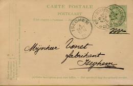BR-8930  Briefkaart Wapenschilden   Type Ocb 56 BEVEREN LEZ ROULERS   Naar ISEGHEM  Coba +15 - Sternenstempel