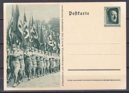 Deutsches Reich - 1937 - Propagandakarte - Reichsparteitag Flaggen Marsch - Ungebr. - Stamped Stationery