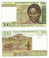 MADAGASCAR       500 Francs       P-75a       ND (1994)       UNC - Madagascar