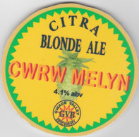 GWAUN BREWERY (FISHGUARD, WALES) - CWRW MELYN BLOND ALE - PUMP CLIP FRONT - Letreros