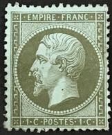 "YT 19 (*) Neuf Sans Gomme + Variété ""goutte Au Nez"" Superbe Napoléon III 1862 20c Bleu (80 Euros + ?) – Fggy - 1862 Napoleon III"