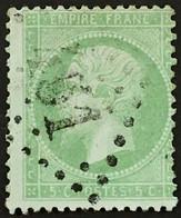YT 35 (°) LGC 451 Bernay-de-L'Eure Eure 1863-70 Napoléon III, 5 Centimes Vert Pâle Sur Bleuté (220 Euros) – Fggy - 1870 Siege Of Paris