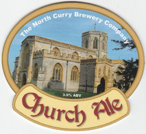 NORTH CURRY BREWERY   (NORTH CURRY ENGLAND) - CHURCH ALE - PUMP CLIP FRONT - Letreros