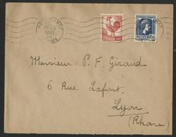 MARIANNE Et COQ D'ALGER N° 633 + 639 De Montélimar Le 3/5/1945 RARE AFFRANCHISSEMENT (Voir Description) - 1921-1960: Periodo Moderno