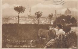 CARTOLINA  FIRENZE, TOSCANA,VEDUTA DAL VIALE DEI COLLI,BELLA ITALIA,RELIGIONE, IMPERO ROMANO VIAGGIATA,1918 - Firenze (Florence)