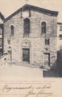CARTOLINA  FIRENZE, TOSCANA,CHIESA DEI SANTI STEFANO E CECILIA PRESSO IL PONTE VECCHIO,BELLA ITALIA, VIAGGIATA,1917 - Firenze (Florence)