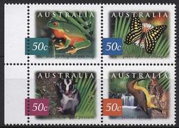 Australien 2003 Fauna Und Flora Des Austral. Regenwaldes 2237/40 ZD Postfrisch - Nuevos