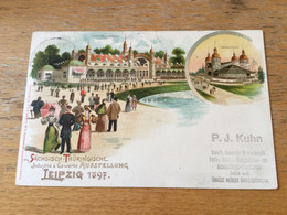 K15 Deutsches Reich Ganzsache Stationery Entier Postal Privatpostkarte Leipzig Industrie-Ausstellung PP C16/04 - Stamped Stationery